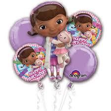 doc mcstuffins ribbon doc mcstuffins balloon bouquet each party supplies walmart