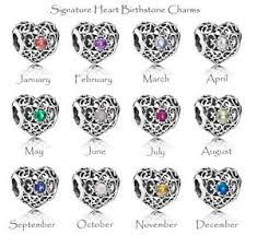 genuine pandora signature birthstone charms all months