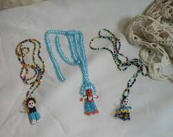 indian beaded necklace images Old indian necklace etsy jpg