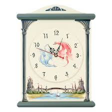 Silent Wall Clock Castle Themed Children U0027s Grey Silent Wall Clock Woodright Home Uk