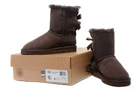 womens ugg boots bow ugg 1003280 limited edition bow bailey boots chocolate