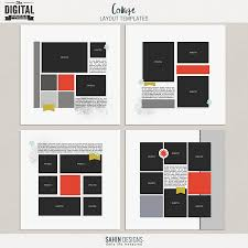 collage layout templates sahin designs digital scrapbook