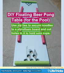 Pool Beer Pong Table by Diy Floating Beer Pong Table For The Pool Lifetricks