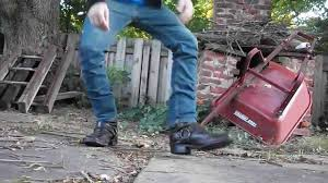 harness boots trashed frye harness boots youtube