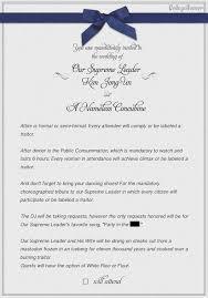 wedding invitations email jong un wedding invitation collegehumor post