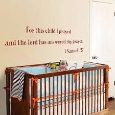 Scripture Wall Decals For Nursery For This Child I Prayed Nursery Wall Decal Vinyl Quote