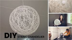 Diy Ball Chandelier Antistyle Diy String Chandelier Tutorial Youtube