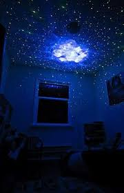 Bedroom Laser Lights On The Ceiling Created By The Laser Projector