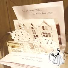 pop up wedding invitations pop up stationery paper wedding invitations
