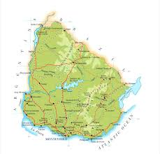 Physical Map Of Florida by Detailed Physical Map Of Uruguay With Roads Uruguay Detailed