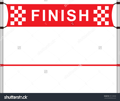 Finish Line Flag Ribbon Clipart Finish Line Pencil And In Color Ribbon Clipart