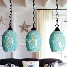 Turquoise Glass Pendant Light Turquoise Glass Pendant Lamp Lighting Light Colored Lights