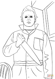 michael myers coloring page free printable coloring pages