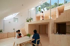 Slope House Hata U0027s Hillside House Interior Integrates Terraced Platforms