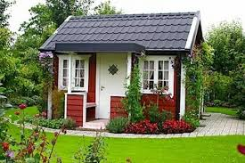 little red swedish garden cottage tiny house pins