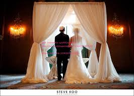 chuppah canopy wedding decoration square pipe frame and drape chuppah arbor pipe