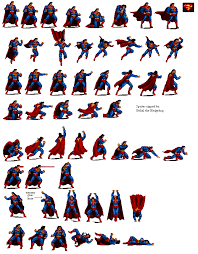 sprite database superman video juegos comic