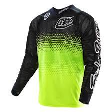 troy lee designs motocross gear troy lee designs 2016 starburst se air jersey yellow black