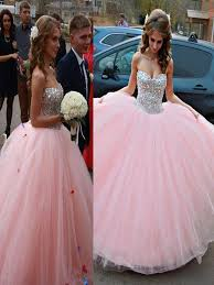 sweetheart 16 princess prom dresses 2016 baby pink ball gown