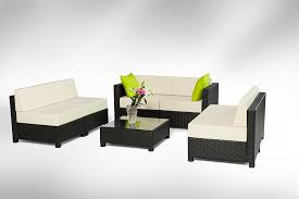 amazon com mcombo 7 piece exacme luxury black wicker patio