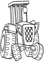 travis tractor bob builder coloring