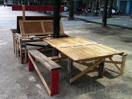 Outdoor Furniture Made From Recycled Materials by Guerrilla Designers Upgrade Parisian Streets With Pop Up Furniture