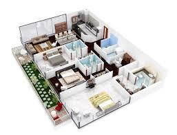 20 planos de departamentos de 3 habitaciones modernos diseños en