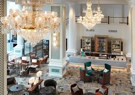 Chandelier Lights Singapore The Revamped Intercontinental Singapore Is Glamorous And More