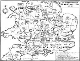 Map Of Southern States Edward The Elder Took Over The Rule Of England After His Father
