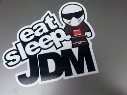 jdm sticker wallpaper car sticker eat sleep