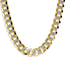 tone gold necklace images New 14k two tone gold figaro chain link necklace 9 5mm cuban jpg