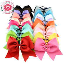 hair bows uk online shop 8 inch large solid cheerleading hair bow