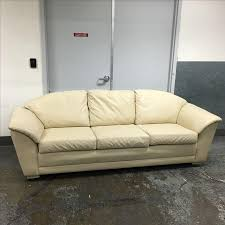 Ivory Leather Loveseat Krause Ivory Leather Sofa Chairish
