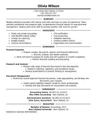 resume objective exles for accounting manager resume staff accountant resume by olivia wilson perfect accountant resume