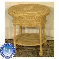 round wicker end table round wicker end table stylish wicker furniture