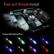Car Interior Leds 4pcs Led Car Interior Lighting Kit U2013 Top Gifts Shop