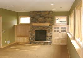 How To Finish A Fireplace - majestic design ideas how to finish your basement beautiful