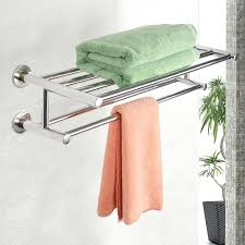 wall towel rack bathroom for rolled towels storage lawratchet com