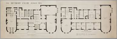 home plan designs judson wallace the detroit club first and second floor plan detroit institute of