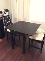 2 chairs and extendable mini dining table side table