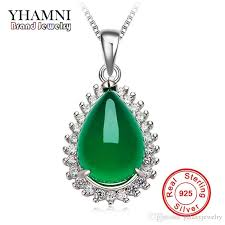 green gem necklace images Wholesale yhamni original natural green gem malay stone pendant jpg