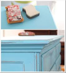 Distressing Diy by Before And After Furniture Makeover In Turquoise In My Own Style