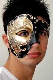 mens venetian mask venetian phantom mask silver italian made venetian masks