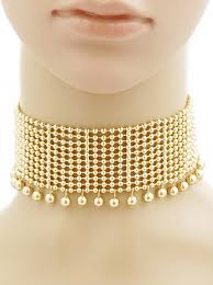 metal ball necklace images Metal ball bead wide choker necklace 86 ln1081 gd gold jewelry jpg