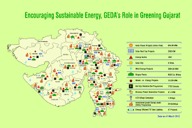 Gujarat India Map by State Renewable Energy Maps Gujarat Energy Development Agency