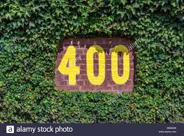 wrigley field stock photos wrigley field stock images alamy 400 feet sign on the centerfield wall of wrigley field in chicago illinois stock