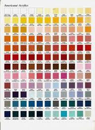 americana acrylic paint color chart jpg color mixing pinterest