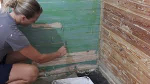 paint stripping wood slat walls youtube