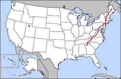 appalachian mountains on map appalachian trail