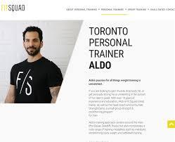 fit squad website development seethrough web